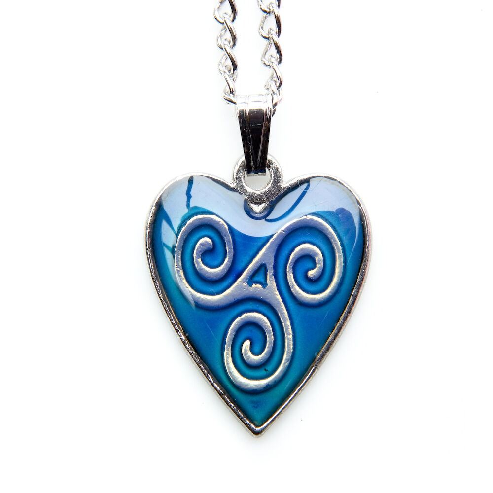 Mood colour changing pendant necklace triskelion ebay for Fashion jewelry that won t change color
