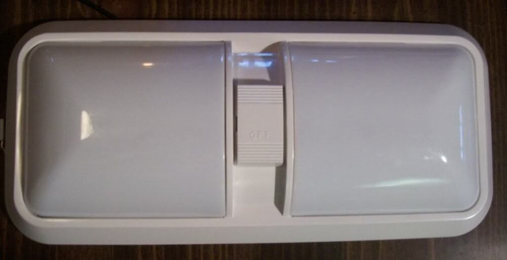 New 12v 12 Volt Double Pancake Ceiling Light W Switch Ebay