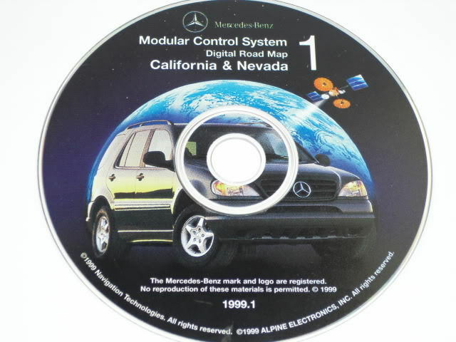 mercedes benz ml command navigation disc cd alpine oem ebay. Black Bedroom Furniture Sets. Home Design Ideas