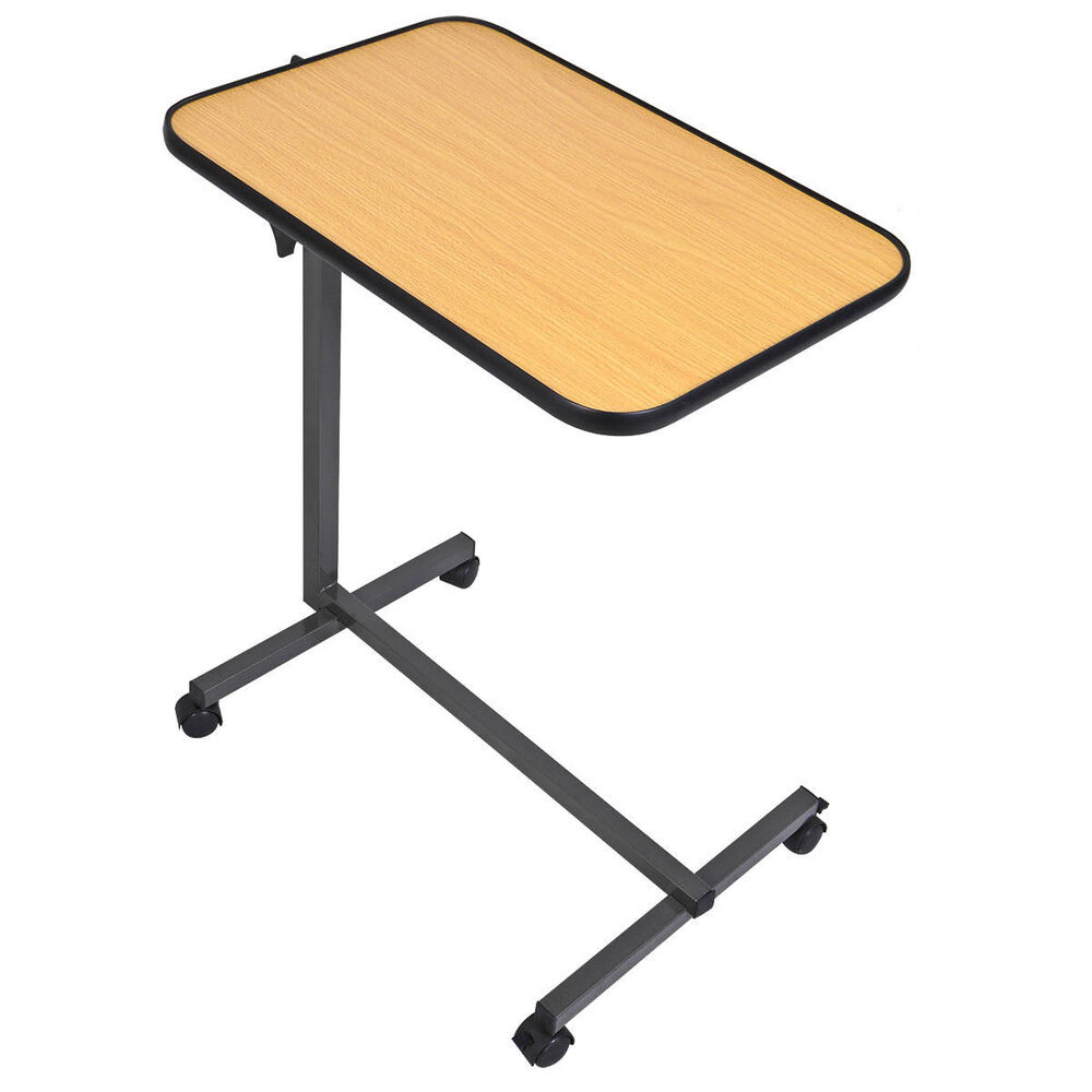 Rolling Tilt Top Overbed Table Over The Bed Table Tilt Top