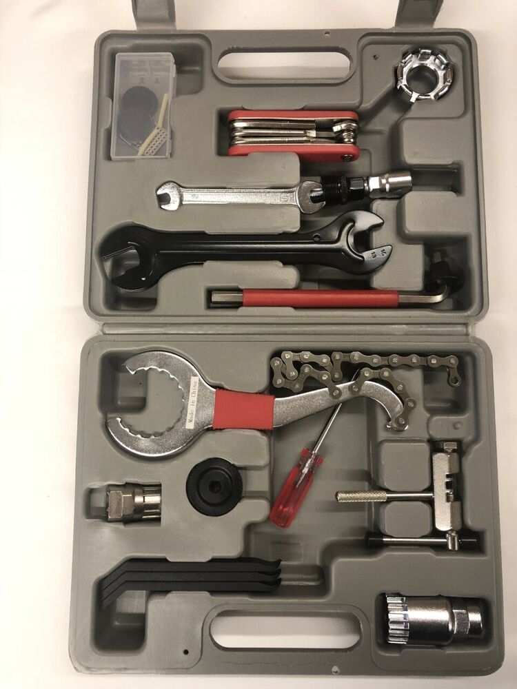 Bike Bicycle Home Mechanic 25pc Tool Kit Set Repair New Ebay