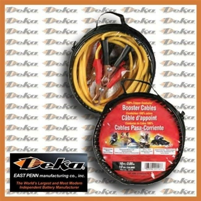 Deka 10 Copper Conductor Booster Cables Ebay