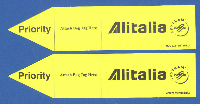 Priority Tag: Alitalia Airlines Cabin Baggage Tags Priority