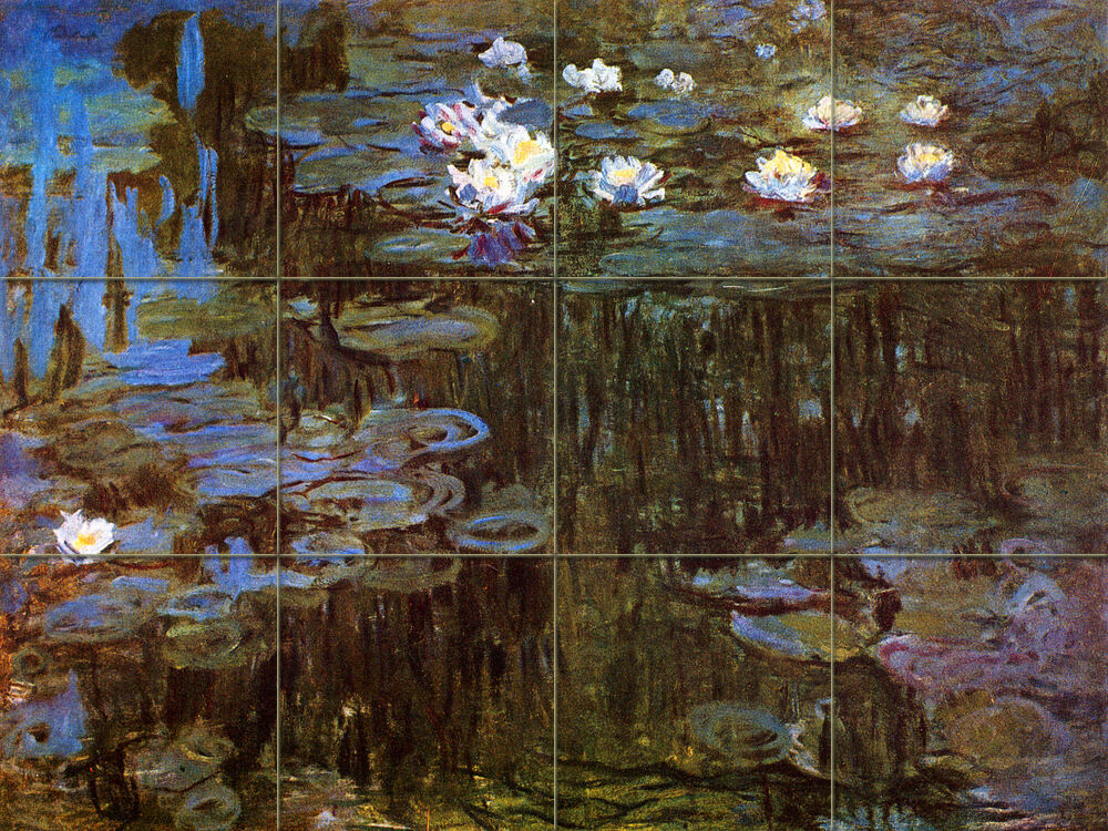Art Monet Water Lilies Mural Ceramic Backsplash Bath Tile