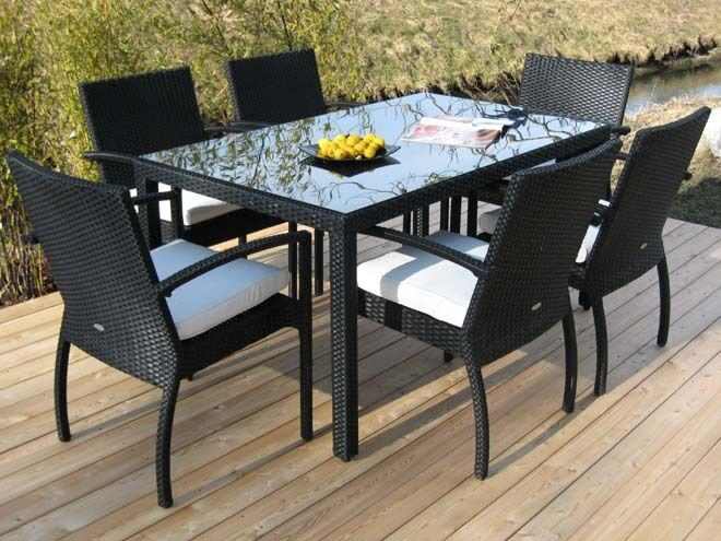 elegante gartenm bel trentino 8 teilig aus poly rattan ebay. Black Bedroom Furniture Sets. Home Design Ideas