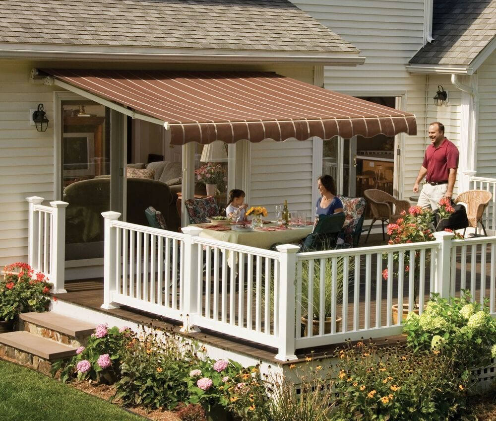 Awning Fabric By The Yard : Sunsetter vista awning with acrylic fabric