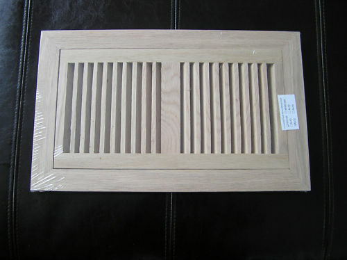 Flush mount oak grill wood floor register vent 6x12 ebay for 6x12 wood floor register