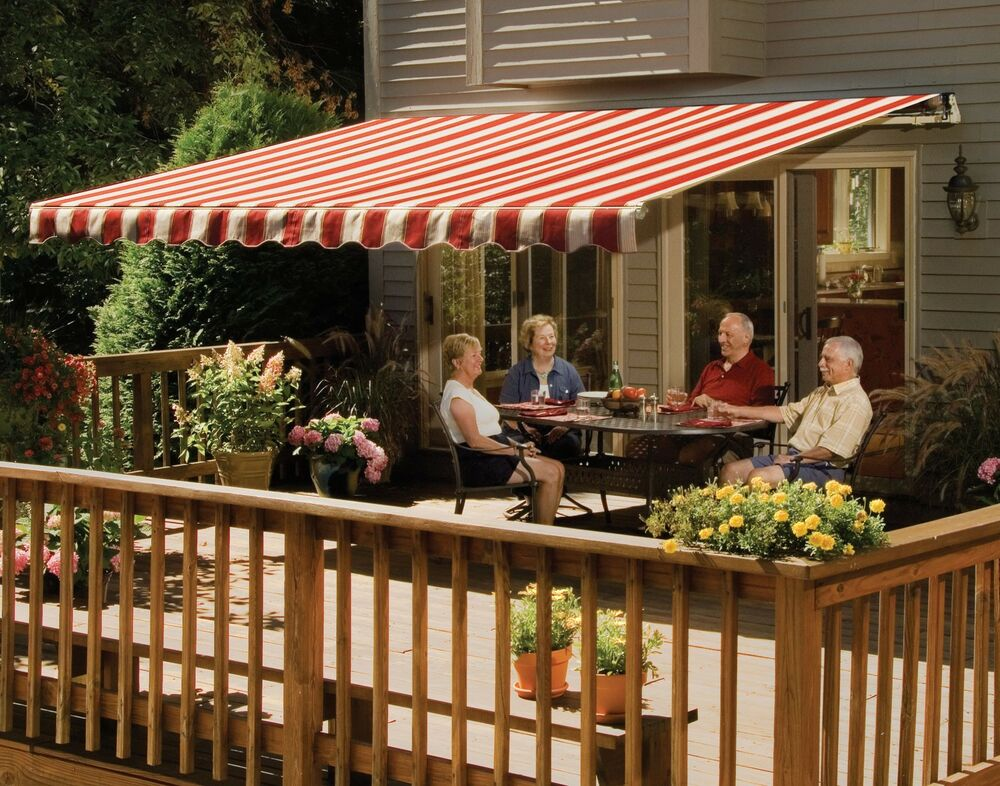 14 39 SunSetter VISTA Awning Manual Retractable Outdoor Deck Patio A