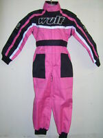 PINK KIDS 9-10 Years WULFSPORT RACE SUIT OVERALLS MOTOCROSS GO-KARTING CHILD