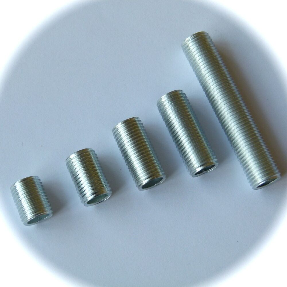Lamp threaded nipple tube in pre cut lenghts hollow