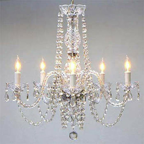 Authentic All Crystal Chandelier Chandeliers Ebay