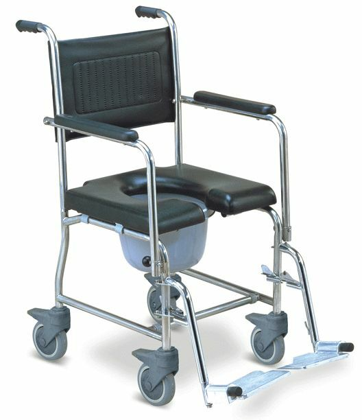 Commode Wheelchair Bedside Toilet Shower 3 In 1 Chair