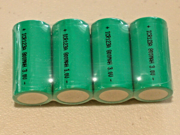 4 CR123A ULTRAFIRE BATTERY 3v RECHARGEABLE Lithium Li-ion