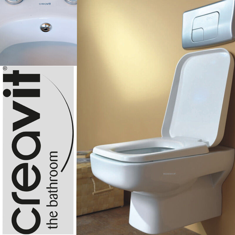 creavit sp320 h nge wand wc taharet bidet taharat toilette mit absenkautomatik ebay. Black Bedroom Furniture Sets. Home Design Ideas