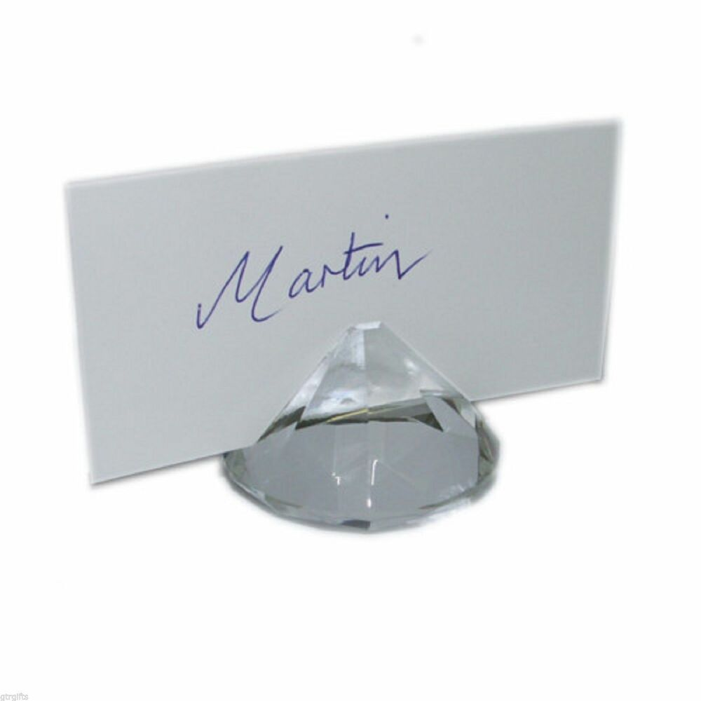 5cm Crystal Diamond Look Place Card Holders Pack Of 10