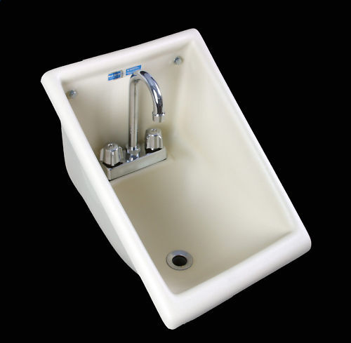 NSF USA Commercial Restaurant Hand Wash SINK Wall Mounted w/ FAUCET ...