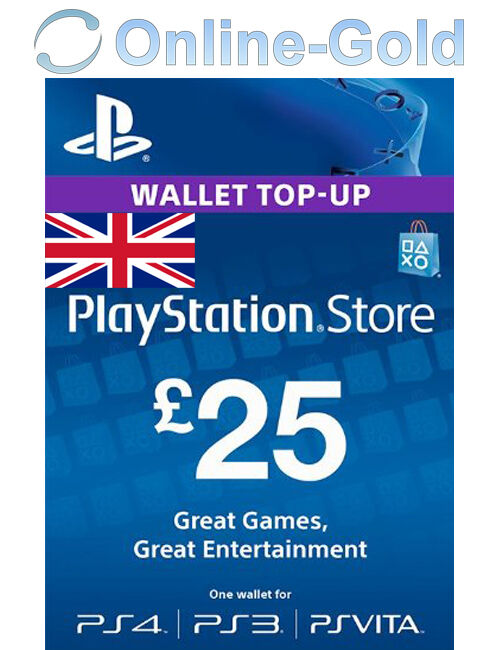 25 pfund playstation store card key ps3 psp psn uk ebay. Black Bedroom Furniture Sets. Home Design Ideas