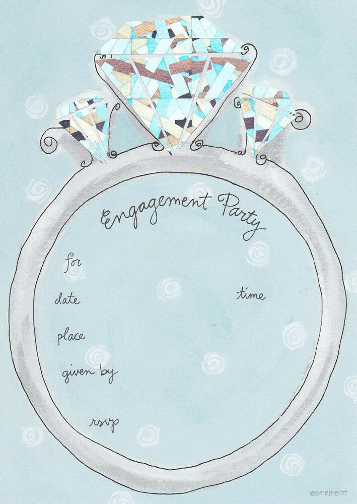 Engagement Party Invitations Wedding Ring Fill in Invites Bride ...