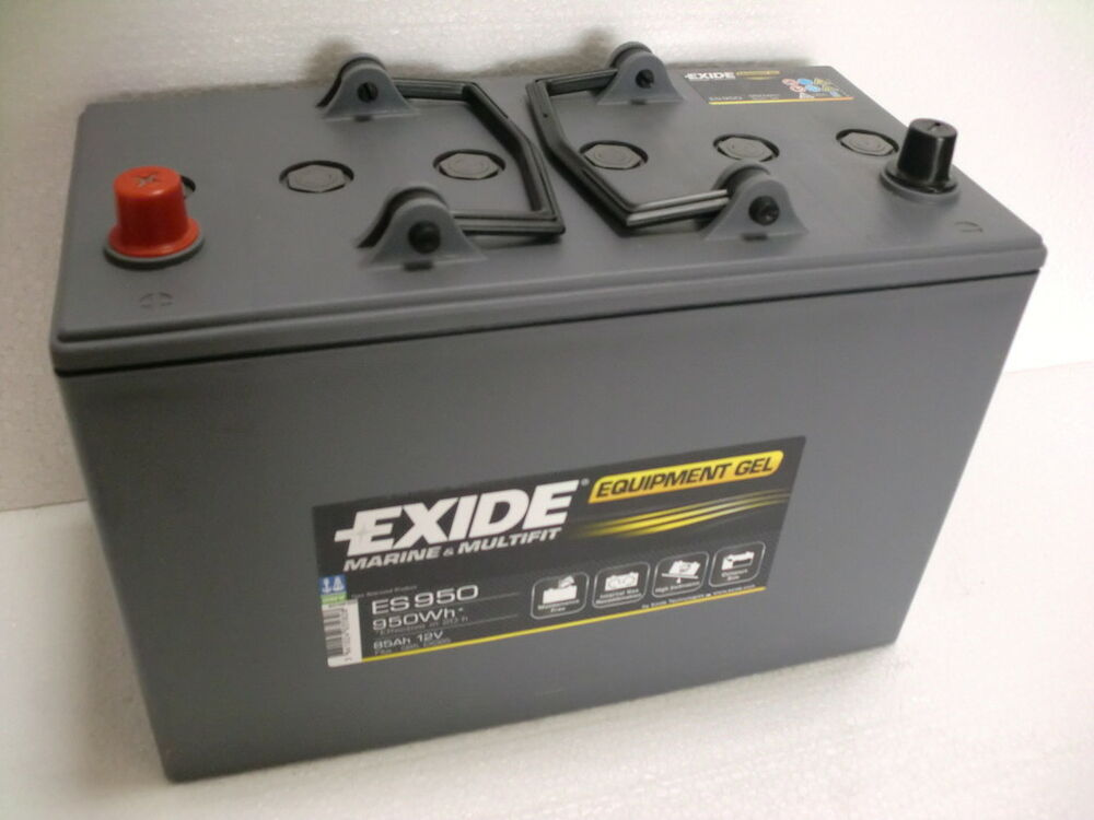 exide equipment gel batterie 12v 85ah es 950 ebay. Black Bedroom Furniture Sets. Home Design Ideas