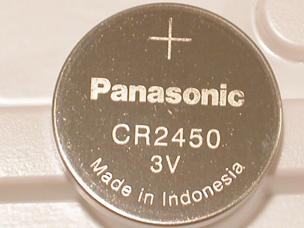 2 New Panasonic Cr2450 Cr 2450 3v Lithium Battery Expire