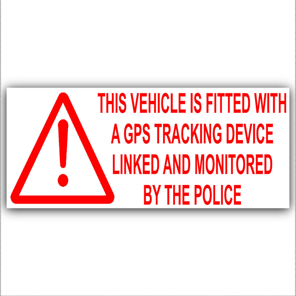 1 x Vehicle,Van,Lorry GPS Alarm-Tracker Security Sticker ...