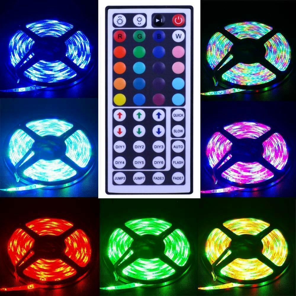 led band 5m strip lichtband farbig lichterkette 5050 smd 60 m streifen leiste ebay. Black Bedroom Furniture Sets. Home Design Ideas