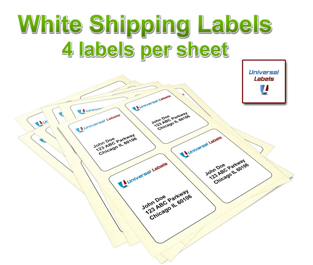 400 4x5 postage shipping labels inkjet laser 4 per ebay for Ebay shipping label template
