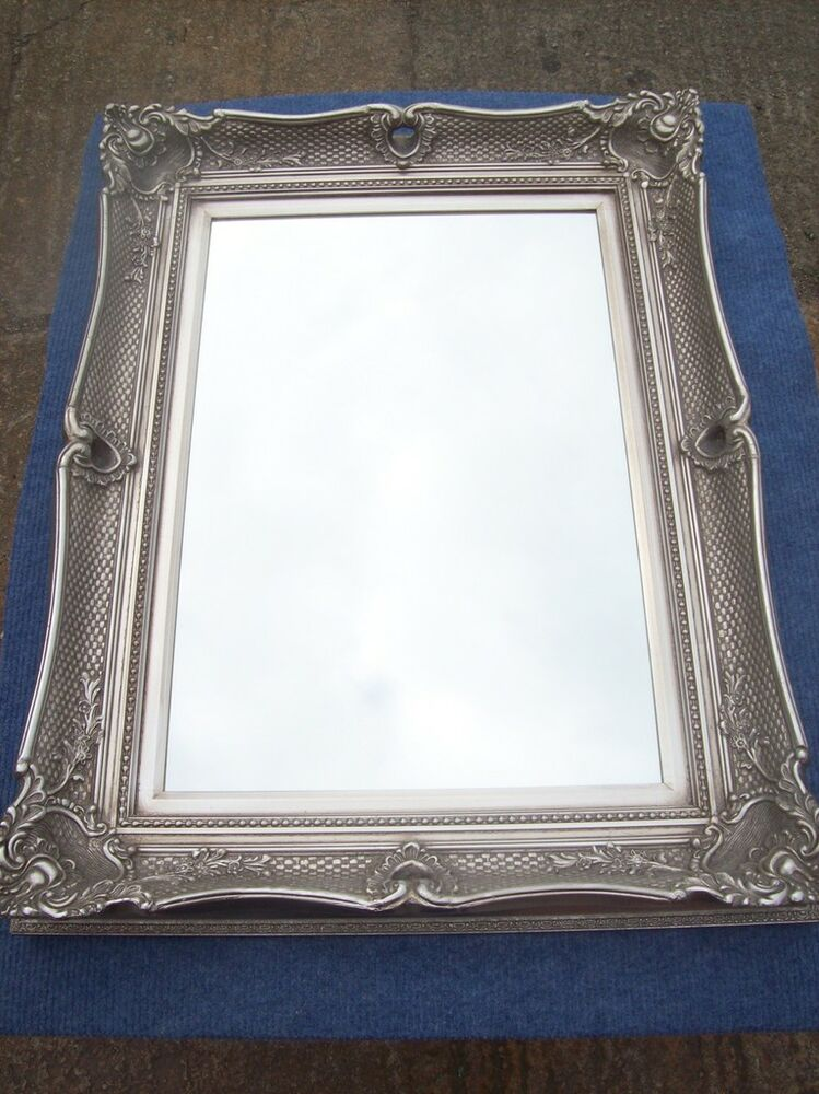 Fabulous antique silver large wall mirror all sizes ebay for Big silver mirror