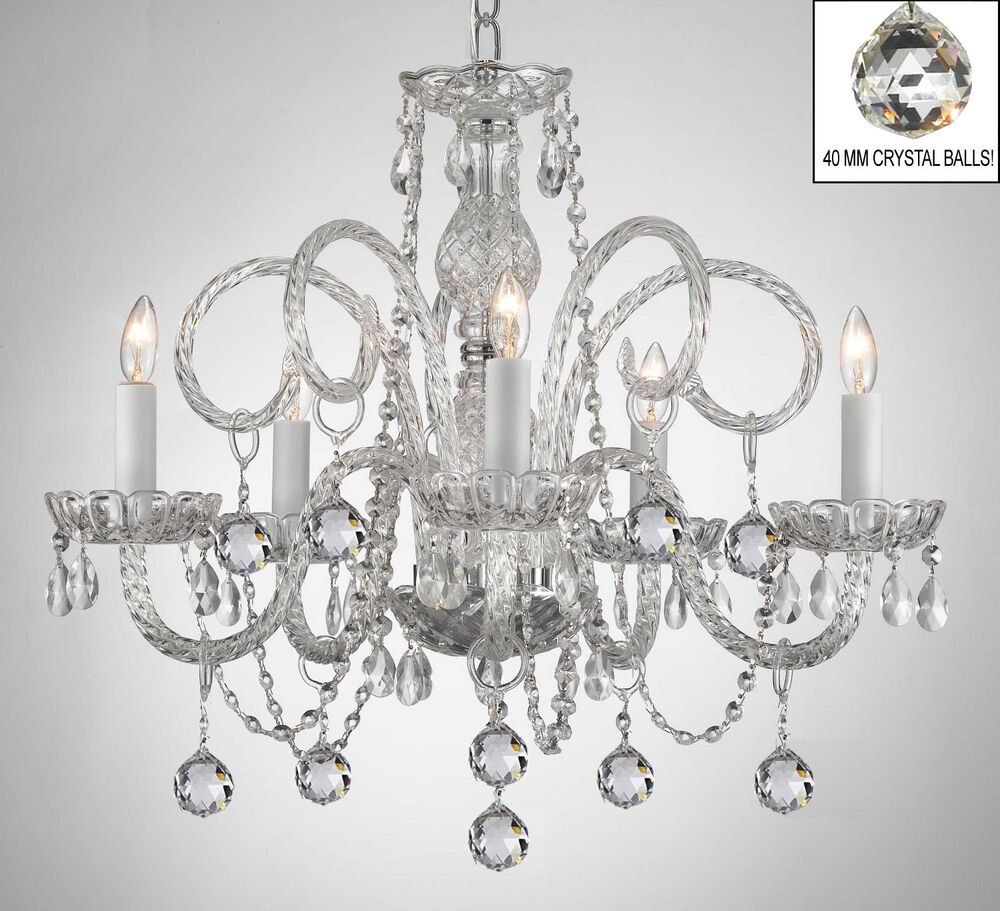 All crystal chandelier chandeliers with crystal balls ebay for Crystal fall