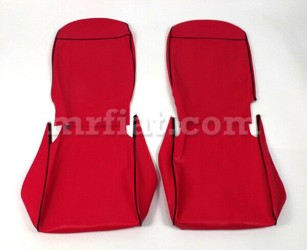 Fiat 500 F R Red Seat Covers