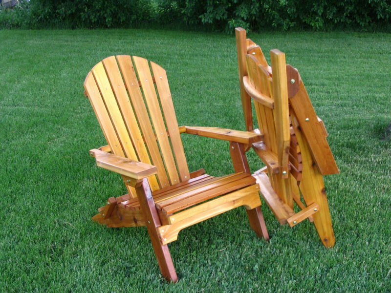 Amish made folding adirondack chair