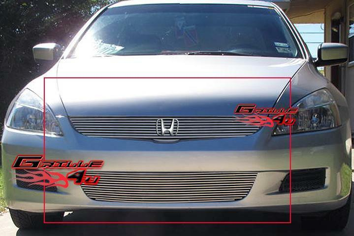 fits 06 07 honda accord 2 door coupe billet grille combo ebay. Black Bedroom Furniture Sets. Home Design Ideas