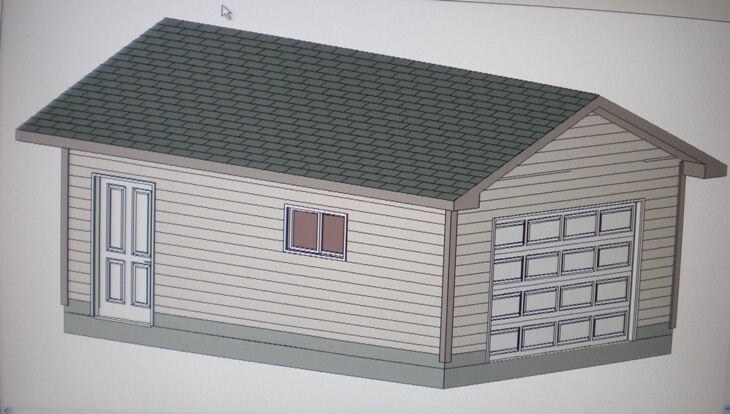 14 39 x 20 39 garage shop plans materials list blueprints ebay for Material list for garage