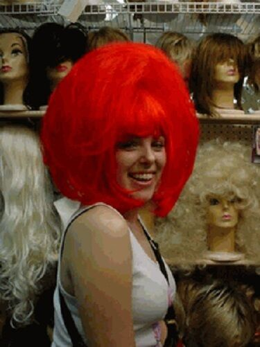 Wig Wigs Drag Queen Fun Bangs Straight Clown Red Page Ebay