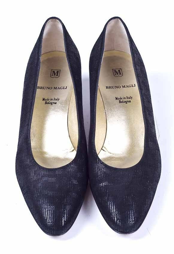 bruno magli leather basketweave black pumps shoes 8 5 ebay