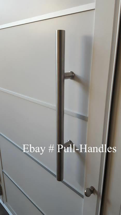 Pull Long Door Handle Entry Modern Pulls 24 Stainless Steel Glass Front