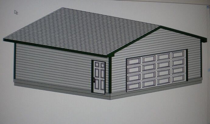 24 39 X 22 39 Garage Shop Plans Materials List Blueprints Ebay
