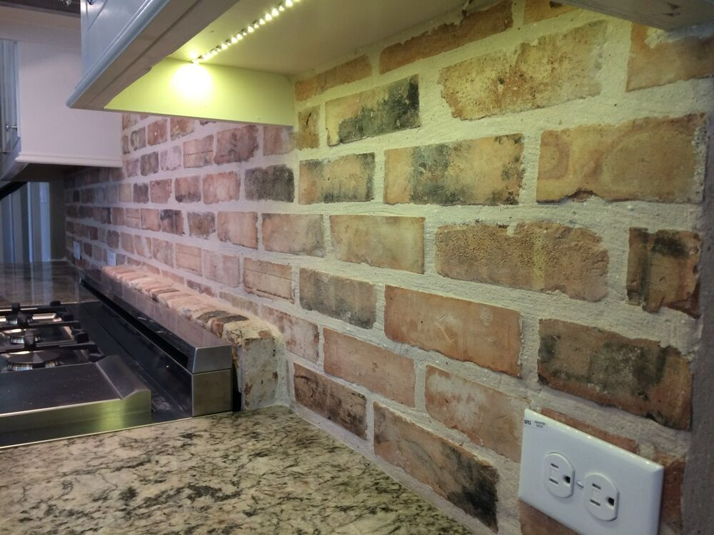 Thin used chicago antique face brick veneer ebay for What is brick veneer house