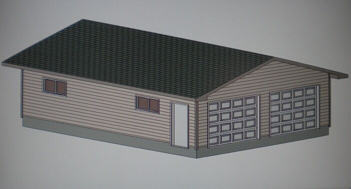 24 39 x 32 39 garage shop plans materials list blueprints ebay for 24x24 garage plans
