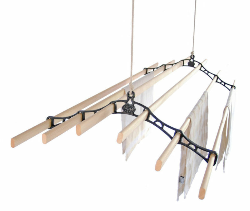 Six Lath Ceiling Pulley Maid Clothes Airer Kitchen Maid Ebay