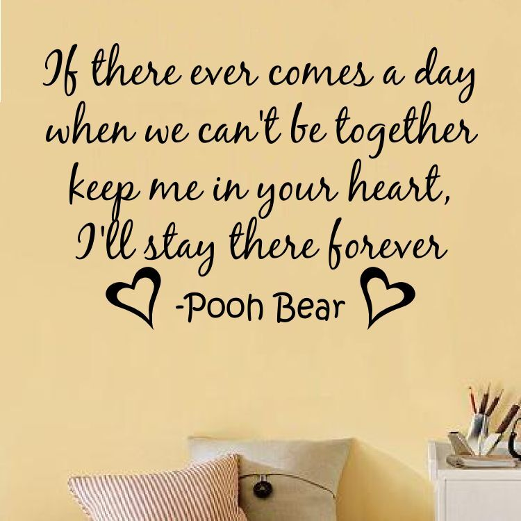 Winnie The Pooh Friends Quote: WINNIE THE POOH HEART FOREVER Quote Vinyl Wall Decal