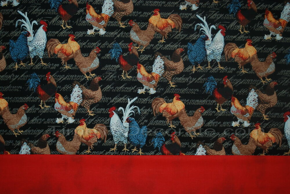 Nw valance CHICKEN COOP brown RED black ROOSTERs LINED | eBay