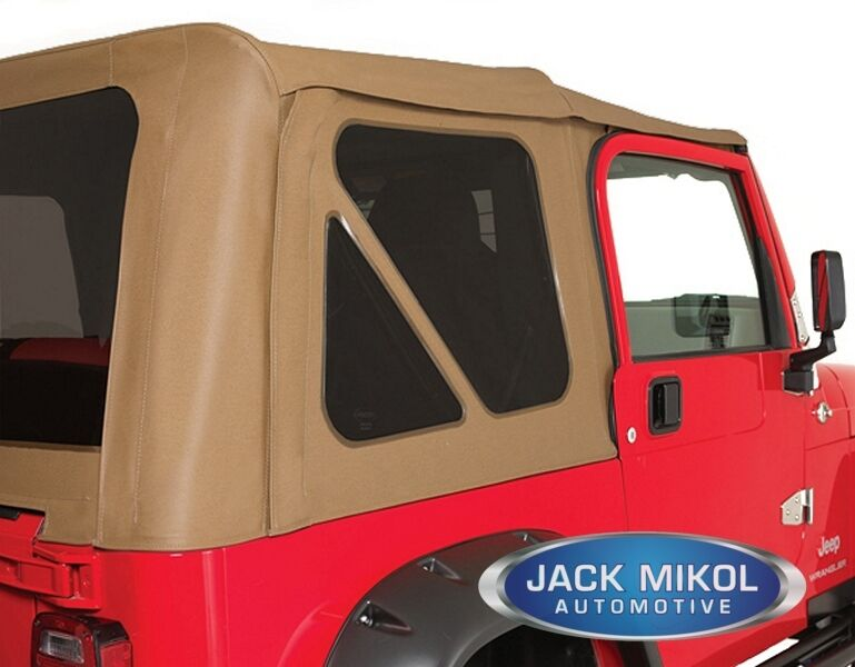 spice 97 06 jeep wrangler soft top tinted rear and back windows ebay. Black Bedroom Furniture Sets. Home Design Ideas