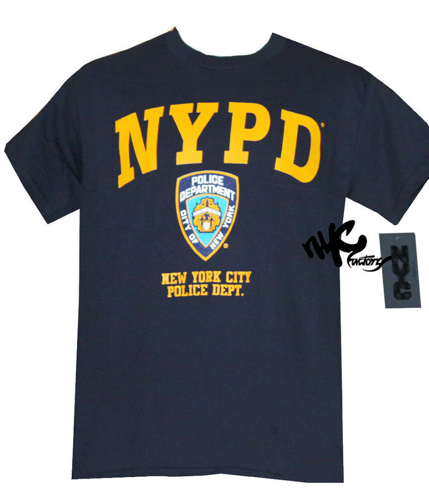 Official nypd police navy t shirt tee mens 2xl xxl new for Local t shirt print shops