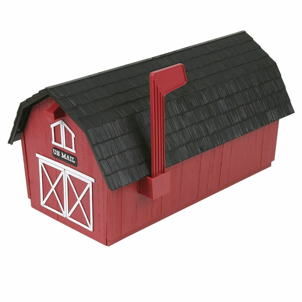 1 1 2 Red Barn Mailbox Poly Mail Box New Ebay