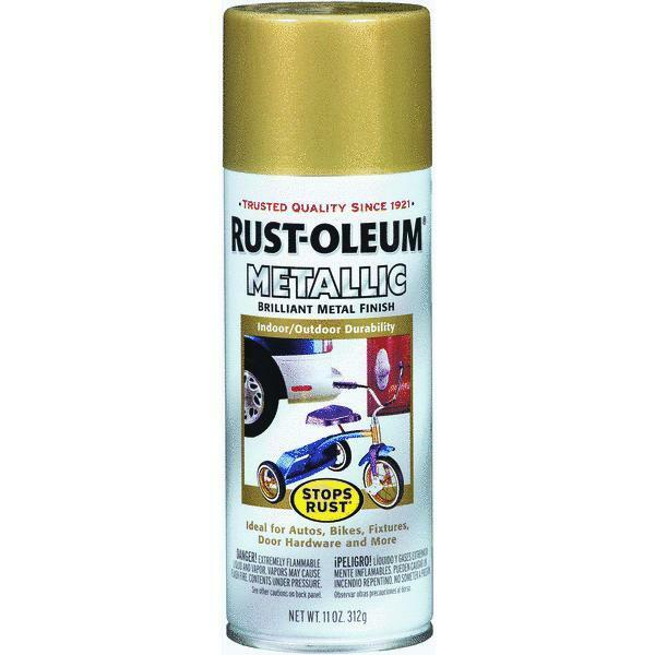 gold rush metallic spray paint by rustoleum 7270 830 ebay. Black Bedroom Furniture Sets. Home Design Ideas