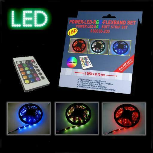 led band rgb 5m fernbedienung farbig strips farbwechsel ebay. Black Bedroom Furniture Sets. Home Design Ideas