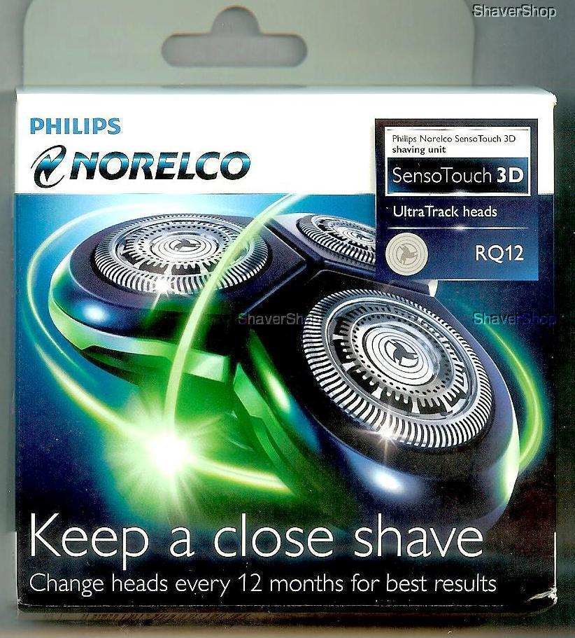 NEW PHILIPS NORELCO RQ12 RQ 12 SENSOTOUCH 3D 1290 1280 1260 1250 Shaver HEADS | eBay