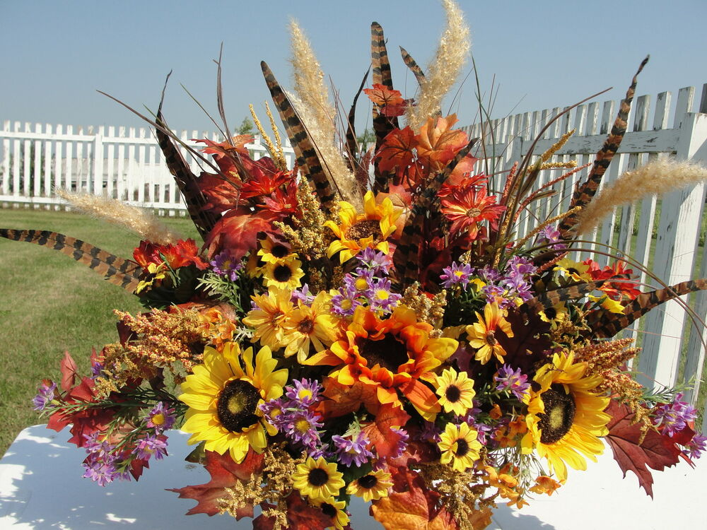 Harvest Memorial Flowers Husband Dad Brother Cemetery