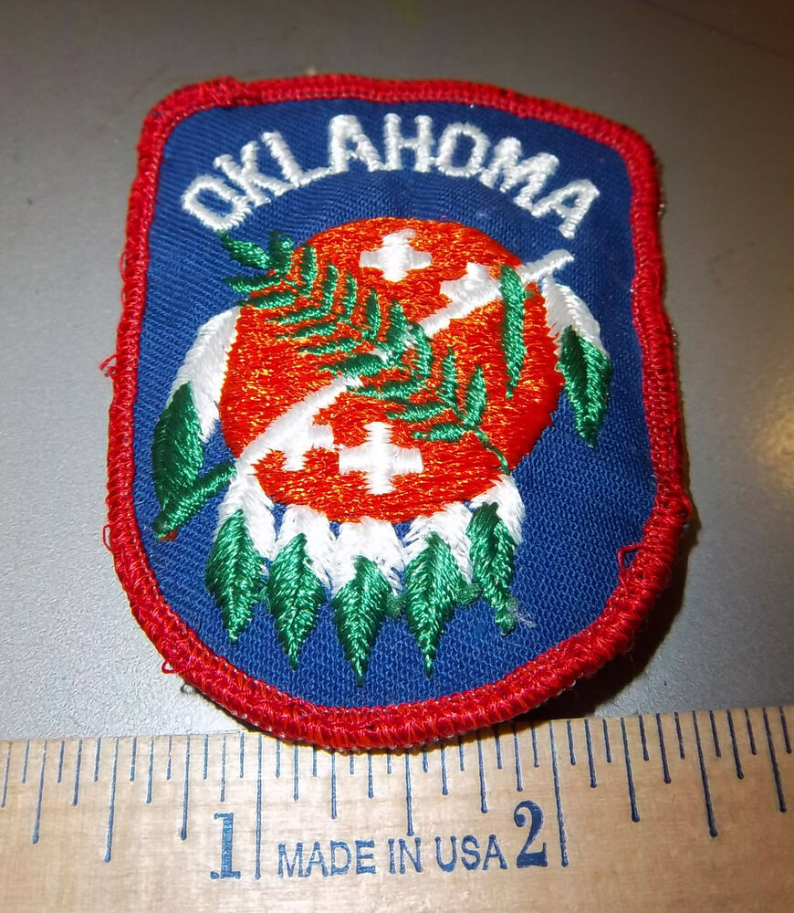 Oklahoma native shield embroidered patch cool collectors